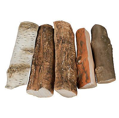 Keramikholz Holz aus Keramik Dekoholz 5 Stück Bio- Gelkamine 5er Set mix Birke 1 - 5 Stück Keramik