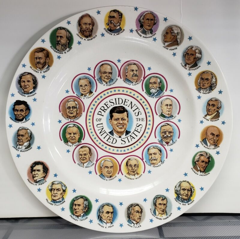 Vintage John F. Kennedy Presidents of the United States Porcelain Plate