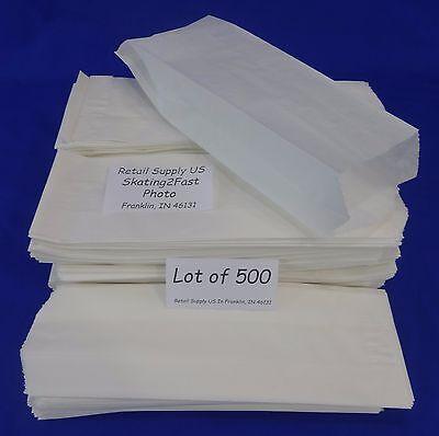 Qty 500 Hot Dog Paper Bags Concession Machine Supplies 3 X 2 X 8.75