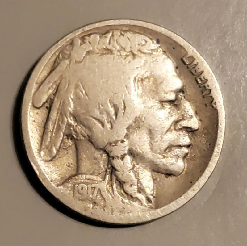 Scarce 1917-S Buffalo Nickel in Good Condition and at a Bargain Price!