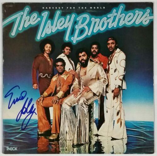 ERNIE ISLEY SIGNED HARVEST FOR THE WORLD VINYL RECORD ALBUM COA ISLEY BROTHERS
