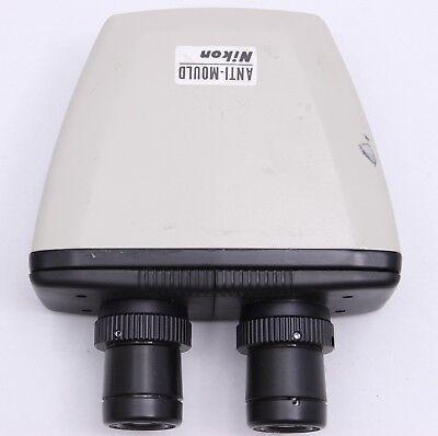 Nikon Alphaphot Microscope Binocular Head 10x Cfwe Eyepieces Labophot Optiphot