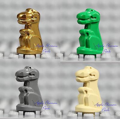 New Lego Lot 4 Baby T Rex Dinosaur Gold Green Gray Tan Dino Animal Statues 5975