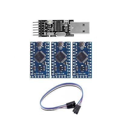 3x Arduino Pro Mini Atmega328 Atmega 328 5v16mhz With Usb Ttl