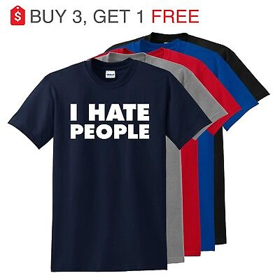 Adult Humour (I Hate People Funny T Shirt Antisocial Adult Humor Cute Holiday Gift Tee)