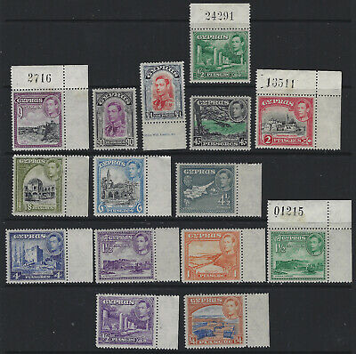 Cyprus Part 1938 Set Values to £1 Mint Cat Value Approx £220