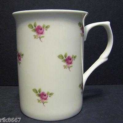 Dot Rose Flower Fine Bone China Mug Cup Beaker Bone China Flower