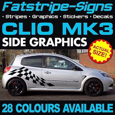 RENAULT CLIO MK3 GRAPHICS STRIPES STICKERS DECALS 1.2 1.4 1.5 1.6 2.0 SPORT D