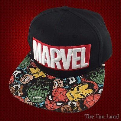 New Marvel Avengers Comic Books Art Mens Embroidered Snapback Cap Hat