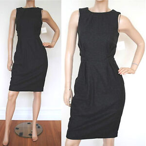 BNWT $235 VERONIKA MAINE charcoal wool blend dress Size 8