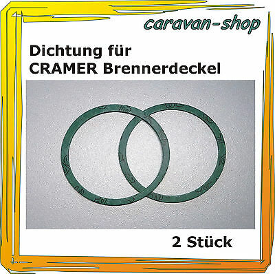 Dometic Dichtung (2 x Dichtung für CRAMER Gaskocher 1,5 mm dick, Brenner Edelstahl Kocher, Dometic)