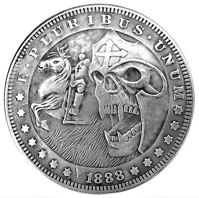 Templar Demon Legion Morgan Dollar Heads Tail Good Luck Token Coin FAST SHIPPING
