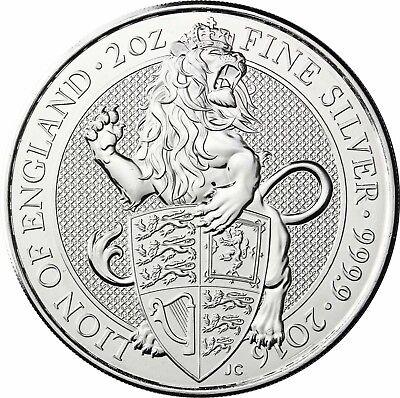 Großbritannien 2016 Der Löwe von England Silbermünze 5 Pfund Queen's Beasts (Silber Pfund)