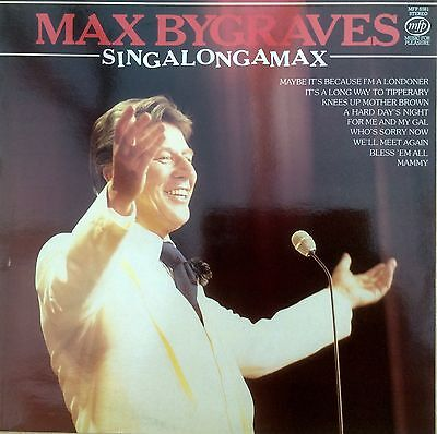 """Max Bygraves  Singalongamax  7 Packed Medley Tracks  12"""" LP 33rpm MFP581  Stereo"""