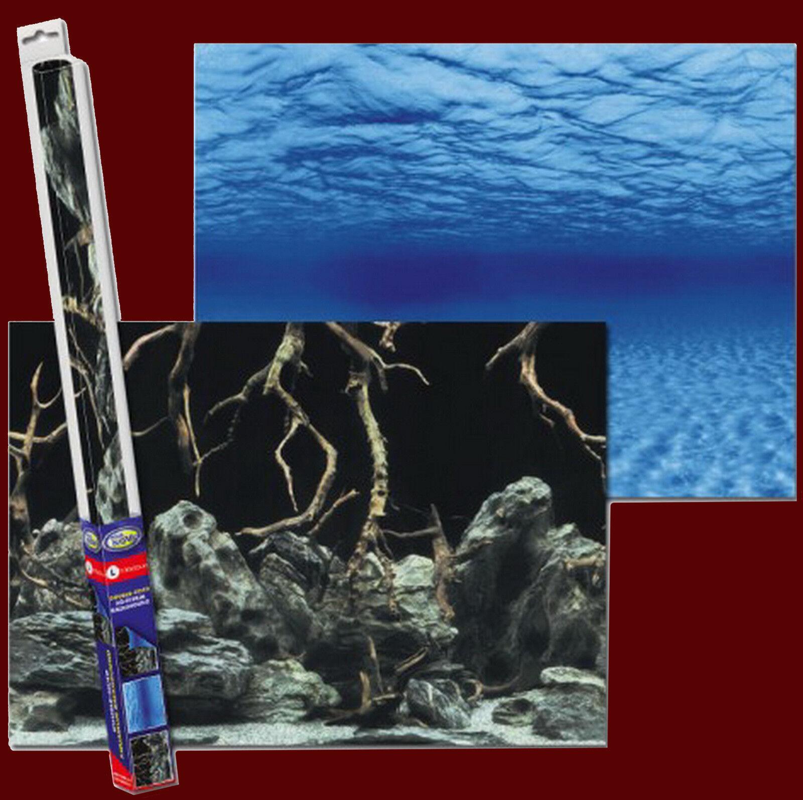 Aquarium Deko ❤️ RÜCKWANDFOLIE 100 X 50cm ❤️ Fotorückwand Zubehör Dekoration