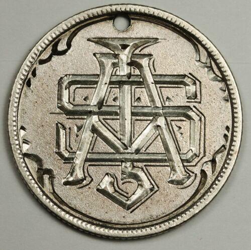 """Canada Silver Quarter.  Love Token.   """"S.A.J.""""  136071"""