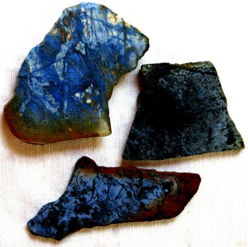 Dumortierite Slab - Dark Blue - 210 Grams - Australia - Lot of 3
