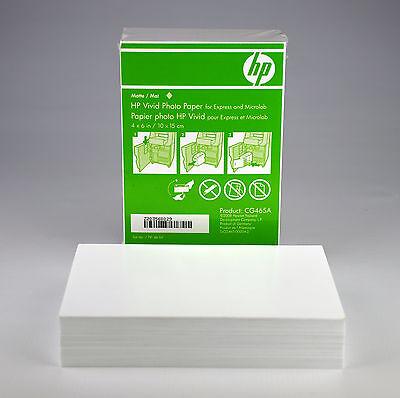 "NEW - HP Vivid Photo Paper 4"" x 6"" Matte white CG465A 120 Sheets FREE SHIPPING"