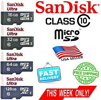 SANDISK 16GB 32GB 64GB   Ultra Micro SD Card Class10 80MB/s BEST PRICE + (Best Class 10 Sd Card)