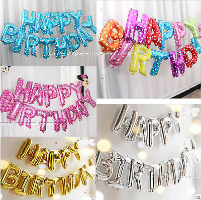 NEW HAPPY BIRTHDAY SELF INFLATING BALLOON BUNTING PARTY HALLOWEEN DECORATION UK