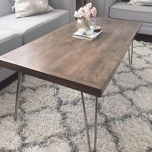 Sold Maple Coffee Table Set