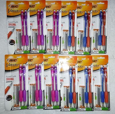 Lot Of 24 Bic Velocity Original Mechanical Pencil Medium Point 2 0.7mm 41170