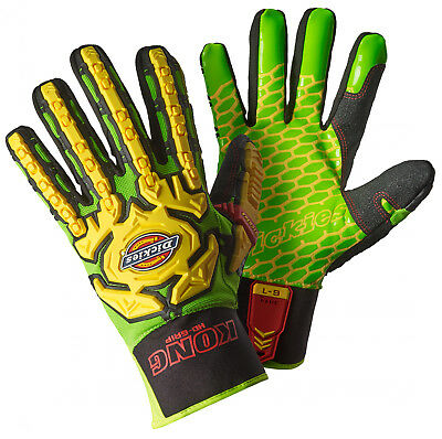 Dickies Heavy Duty Super Grip Impact Gloves Work KONG Outdoor -