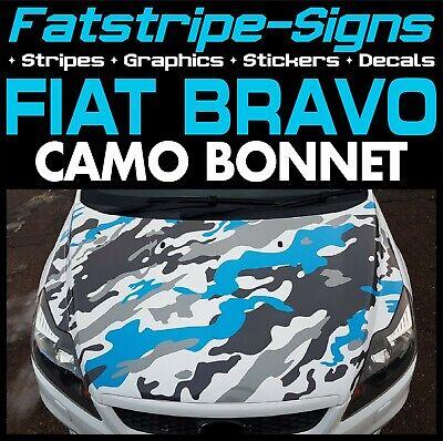 FIAT BRAVO CAMO BONNET GRAPHICS STRIPES STICKERS DECALS CAR VINYL 1.6 2.0 ABARTH na sprzedaż  Wysyłka do Poland