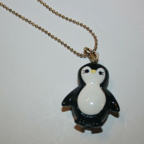 New Gymboree Outlet Penguin Black White Necklace One Size NWT