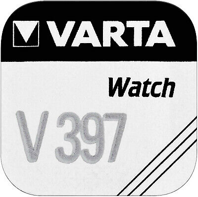 1x Varta Knopfzelle Silberoxid V 397 1,55V SR 726 SW Quecksilberfrei V397