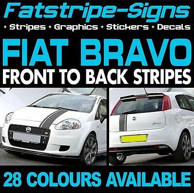 FIAT BRAVO STRIPES GRAPHICS STICKERS DECALS CAR VINYL 1.4 1.6 2.0 SPORT ABARTH na sprzedaż  Wysyłka do Poland