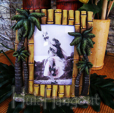 Hawaiian Palm Tree Bamboo Picture Frame. Free Expedited Shipping!