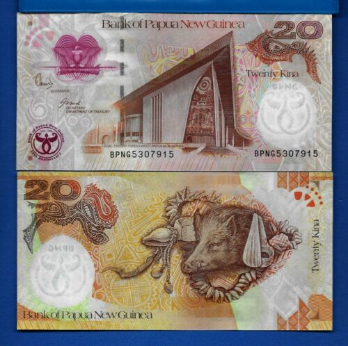 Papua New Guinea P-36 20 Kina Year 2008 Uncirculated Banknote Africa