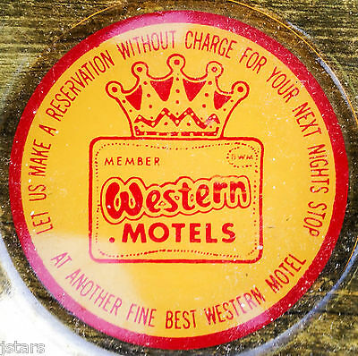 C  1960S Western Motels  Best Western Motel Yellow Glass Ashtray  Vintage