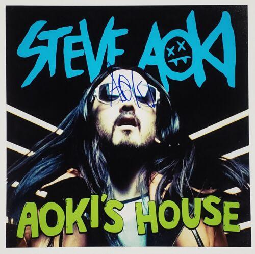 STEVE AOKI DJ SIGNED 12X12 ALBUM COVER PHOTOGRAPH W/COA AOKI