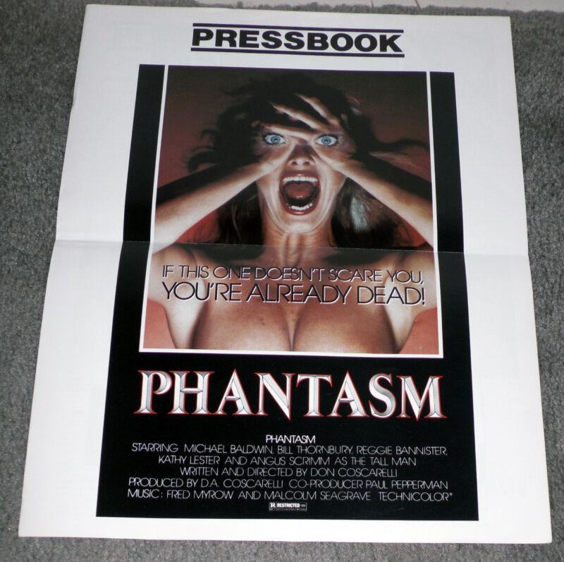PHANTASM original Rare 1979 movie pressbook ANGUS SCRIMM