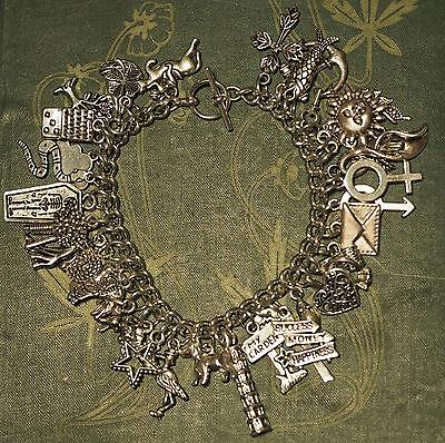 Lenomand Card Charm Bracelet - Divination, Pagan, Wicca, Deck, tarot, 36 charms
