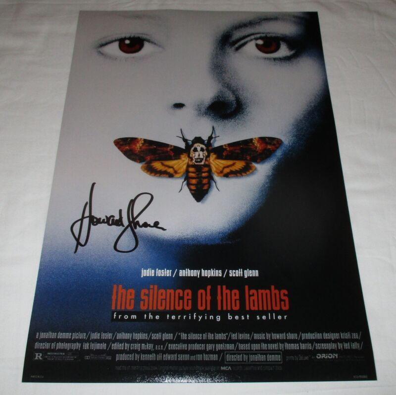 HOWARD SHORE SIGNED THE SILENCE OF THE LAMBS 12X18 MOVIE POSTER