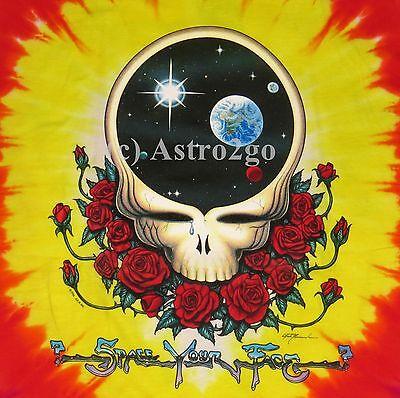 GRATEFUL DEAD SPACE YOUR FACE-Liquid Blue Lng/Short Sleeve 2 sided T shirt M-6XL](Grateful Dead Space Your Face Shirt)