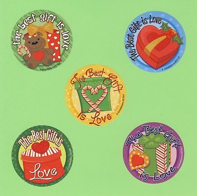10 The Best Gift is Love - Large Stickers - Christmas Winter (10 Best Christmas Gifts)