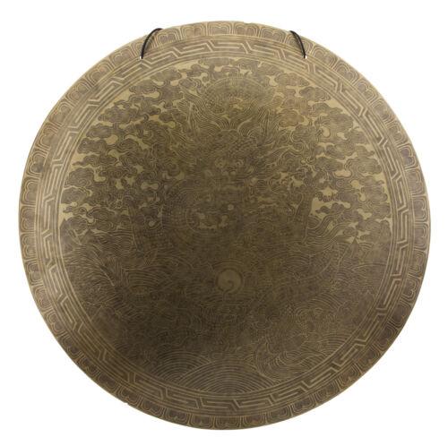 Gong Tibetan Dragon 7 Metals Hammered Ø 24 13/16in 8.8lbs600 Nepal 131 Hg 3