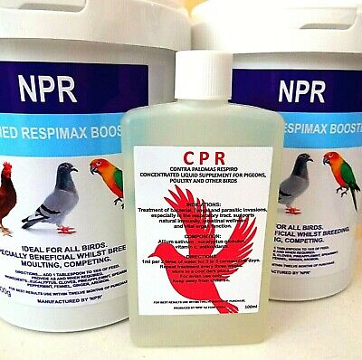 2 X Racing Pigeons Poultry Birds Respiratory Natural Treatment Supplement