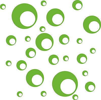 Retro Dots 26 Stück Wandtattoo Wandsticker Aufkleber Farbe frei wählbar AN1190