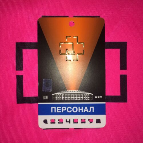 Rammstein pass Russia from Moscow show 2019 very rare number 4