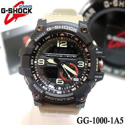 Casio G-Shock Mudmaster Analog Digital Twin Sensor Beige GG-1000-1A5 Mens Watch