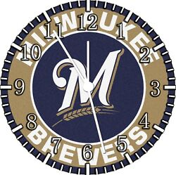 Milwaukee Brewers Frameless Borderless Wall Clock Nice For Gifts or Decor F112