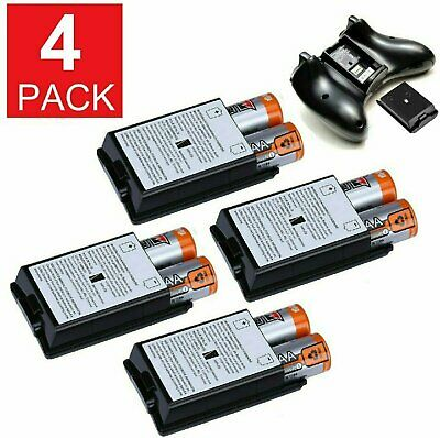 4 PK AA Battery Back Cover Case Shell Pack For Xbox 360 Wireless Controller Batteries