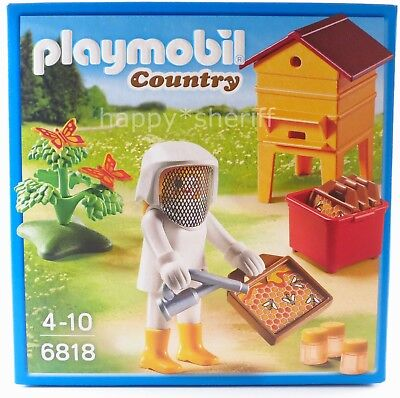 Playmobil País Set 6818 Chica Abeja Keeper con Panales Abejas Accesorios Nuevo