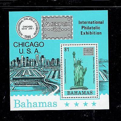 BAHAMAS 601a, 1986 AMERIPEX, S/S OF 1, MNH (BAM003)