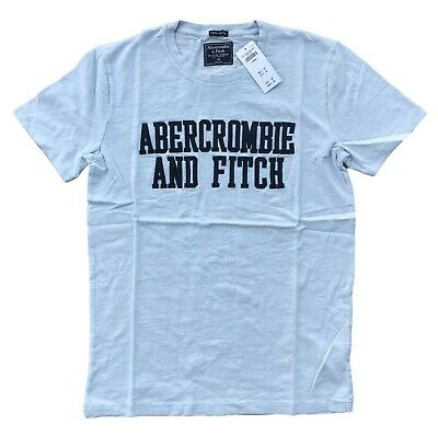 Abercrombie & Fitch Men's APPLIQUE LOGO TEE Graphic T-shirt All Sizes Free Ship